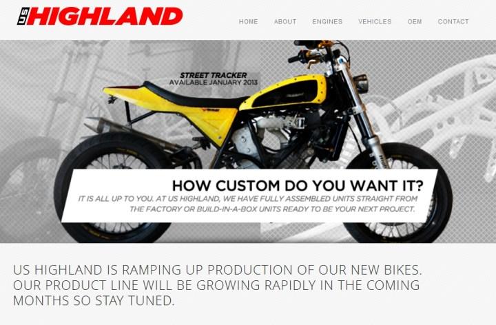 US Highland offrira des motos en 2013