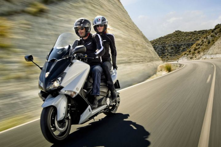 The T Max is a surprisingly fast machine on the street.