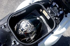 Bondo found he couldn't get more than one full-face helmet into the trunk.