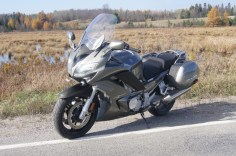 Bondo figures riders should get almost 500 kms out of a fill-up on the FJR1300.