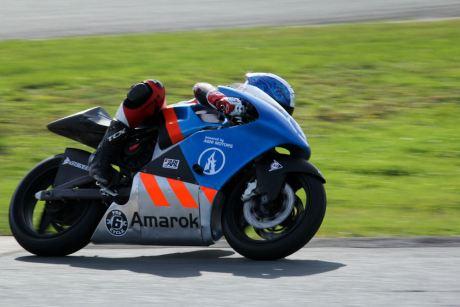 The Amarok P1 is a cutting-edge electric race bike that's built in Canada. Photo: Jenn Harrie
