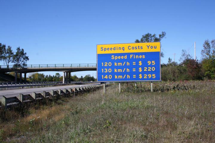 Ontario 401 Speeding Ticket Cost