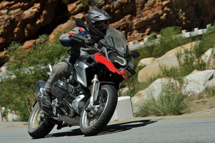 In Dynamic mode the suspension firms up and allows the GS to rail through sweepers waver-free.