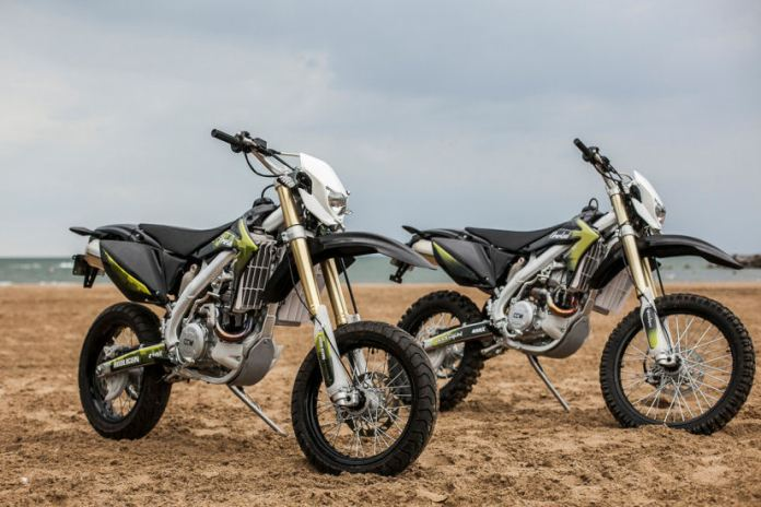 Here's the dirt and motard versions of the new Hooligun. Photo: Hell for Leather