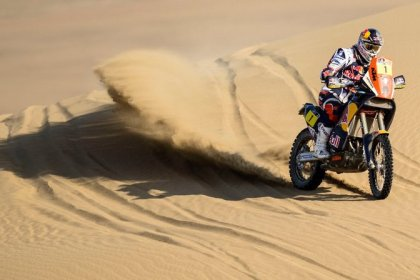 Cyril Despres is still a threat on his KTM.