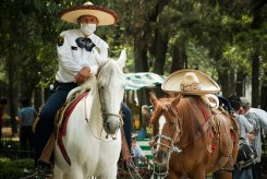 With the banditos firing into the air, the riders waited for their opportunity.