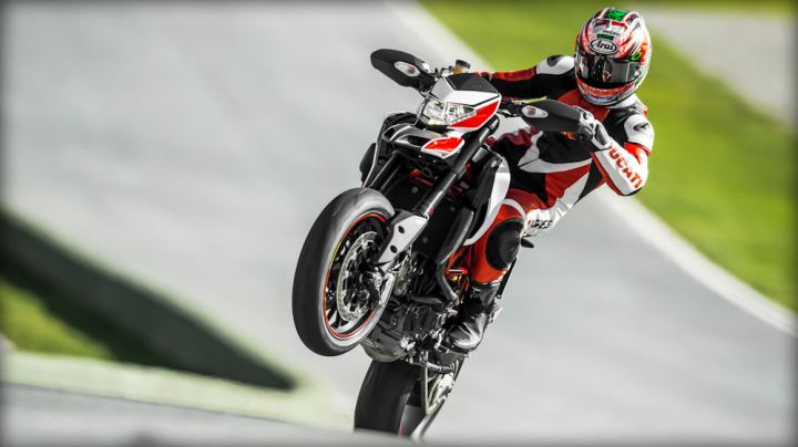 The footpegs have moved forward and the rider's seating position has been moved back on the Hypermotard this year.