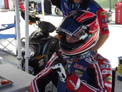 Scottish-born racer Ben Young, who currently hails from Sudbury, had a great showing at the Daytona 200. Photo: Facebook
