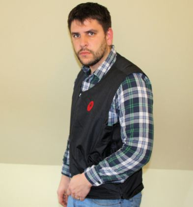 The Heat Demon vest doesn't have as many heating elements as other vests, to conserve battery power.
