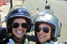 Tricia Helfer motorcycle rider