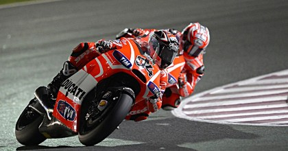 Andrea Dovisioso qualified in fourth place, but dropped back to seventh in the race. Photo: MotoGP