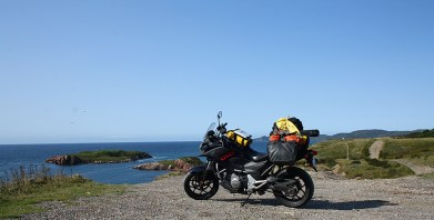 The Ortlieb bags also served Kurylyk well on his NFLD tour last fall. While the back of the bike was piled high with other gear he hauled along for testing, he could have easily completed his 10-day tour with just the Ortliebs as luggage. Photo: Zac Kurylyk