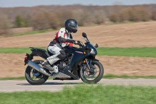 The CBR500 bars change the riding position slightly, putting more weight on your wrists and hands. Other than that, the bikes feel very similar.