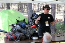 Instructor Andrew Pain talks about minimalist motorcycle packing.