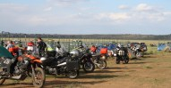 The Harley-Davidson Switchback looked a little out of place at Overland Expo.
