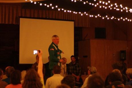 Austin Vince presents members of his Mondo Sahara team at the film's premiere.