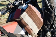 You won't find this solution for carrying spare gas in the Touratech catalogue.