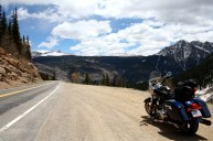 Due to the elevation changes, you'll want to dress warm while riding through the Rockies. Photo: Zac Kurylyk