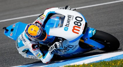 Esteve Rabat took the checkered flag in Moto2. Photo: MotoGP