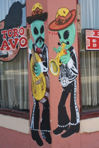Even the Mexican restaurants get into the alien theme in Roswell. Photo: Zac Kurylyk