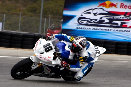 Ben Young is on a privately-run Yamaha R6 in the AMA this season. Photo: FOGI Racing