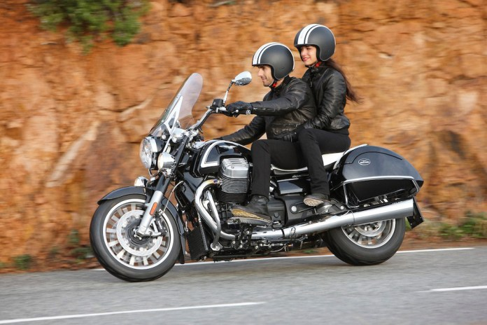 The Guzzi has an oil cooler, with independent oil pump and a thermostat-controlled fan.