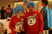 These escapees from a Dr. Seuss book were also spotted at supper.