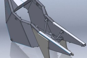 That monocoque chassis originally took 12 man-weeks to produce, but modern manufacturing techniques have sped that up.