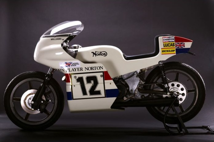 The 1973 John Player Norton was a classic motorcycle, but its design is still futuristic.