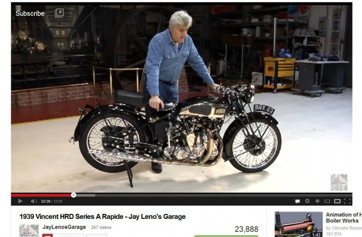 Video: Jay Leno on a Vincent