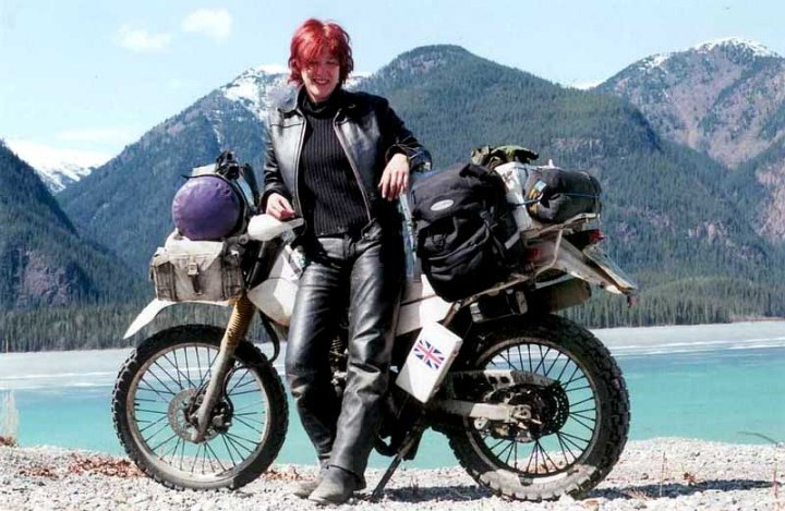 Lois Pryce's hobby is riding small bikes on big trips. Her books about those trips are fantastic. Photo: Loisontheloose.com