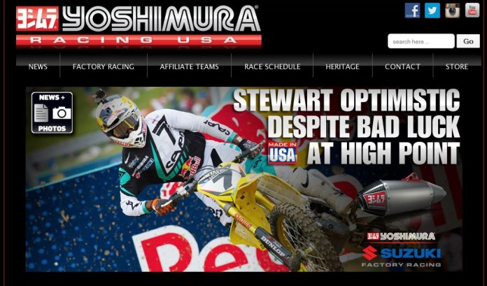 Yoshimura R&D's new racing site is a fun visit.