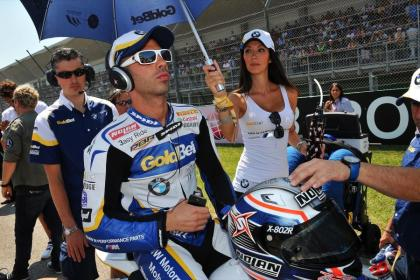 Marco Melandri got two fourth-place finishes on the weekend, but seems to have managed to keep his groove. Photo: WSBK