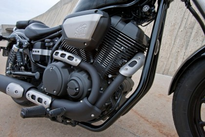 The 950 motor puts out plenty of power; combine that grunt with a lightweight, stripped-down design, and you've got a cruiser with plenty of zip, even though it's smaller than most on the market.