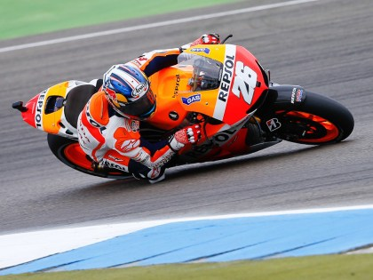 Dani Pedrosa failed to capitalize on his opportunity to gain a big lead on Lorenzo. Photo: MotoGP