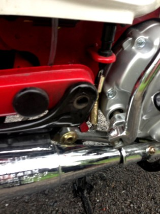 Alas, Jamie's MBSR ride came to an early end when the nut fell off his swingarm bolt. Photo: Jamie Leonard