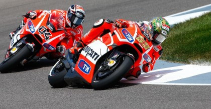 It was Nicky Hayden's last race at Indy with the Ducati factory team. Results were typical. Photo: MotoGP