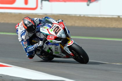 Happy birthday to you ... Leon Camier got Kawasaki's first podium for the year on his 27th in the first race.