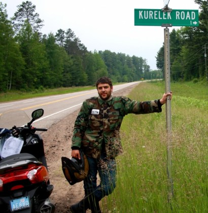 Kurylyk, far from downtown on the Downtown, finds a local road with what he deems is a spelling error. Photo: Kanishka Sonnadara