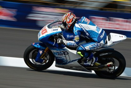 Takaaki Nakagami thought he had the win in Moto2, but finished behind Tito Rabat. Photo: MotoGP