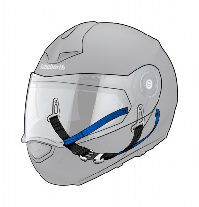 The helmet also features Schuberth's Anti Roll Off System, that locks the helmet on your head in case of a crash.
