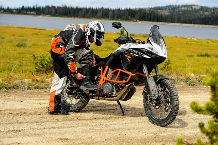 Costa's not taking a break from the seat; unlike most KTMs, he says the 1190 Adventure R has a comfortable saddle.