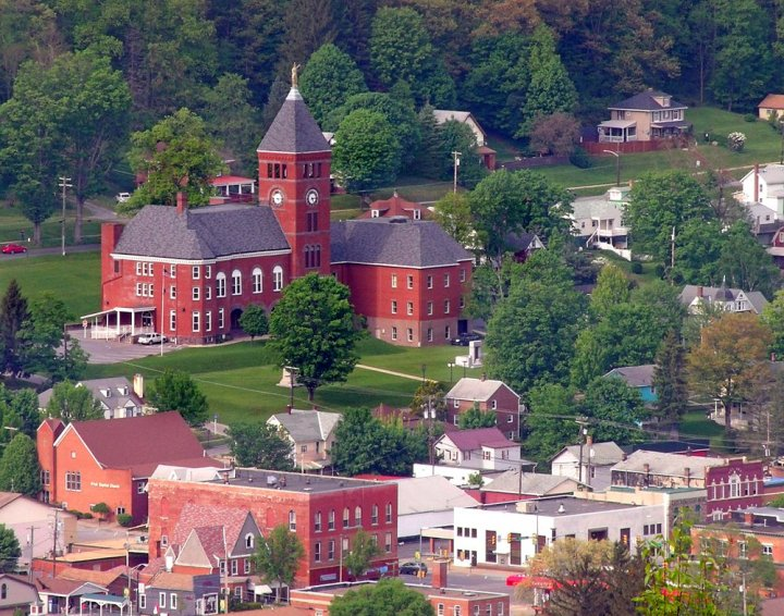 Welcome to Emporium, just one of the many small Pennsylvania towns you'll encounter in between sets of bracing twisties throughout this trip. Photo: Nicholas T/Wikimedia