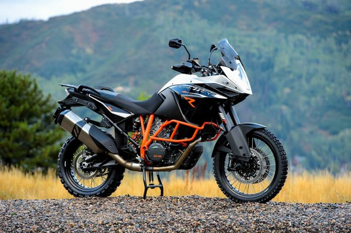 The KTM 1190 Adventure R uses a retuned version of the RC8 superbike's motor.