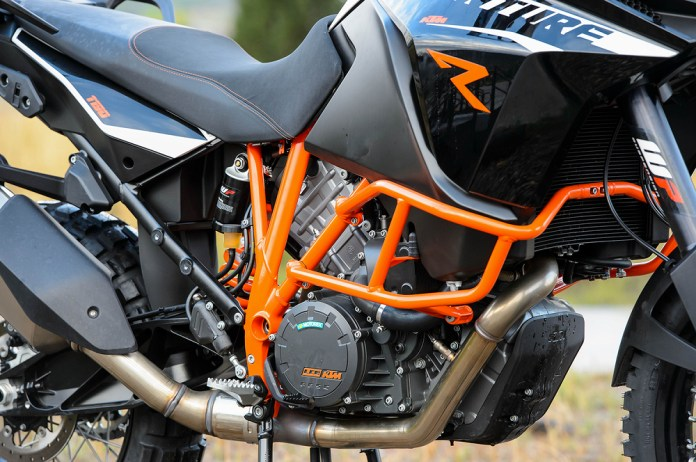There are all sorts of electronic aids to help you keep the shiny side up. ABS (including an off-road mode) helps you brake, and there are engine management modes to help you control that 150-hp V-twin.