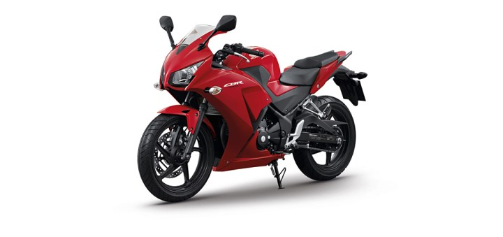 Now, with more motor! Here's Honda's answer to the Ninja 300.