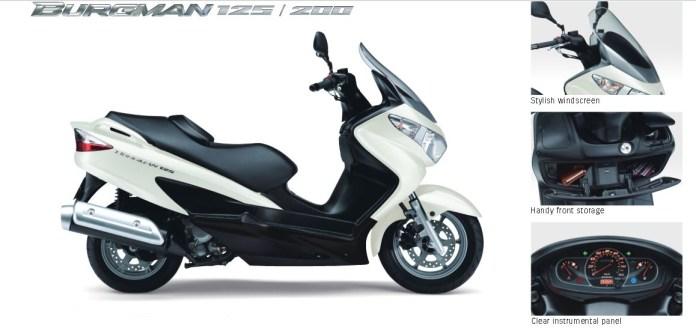 Here's Suzuki's Burgman 200.