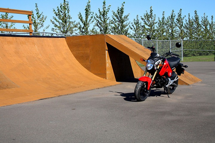 The Grom is squarely aimed at the sort of person who hangs out at the skate park. Photo: Zac Kurylyk
