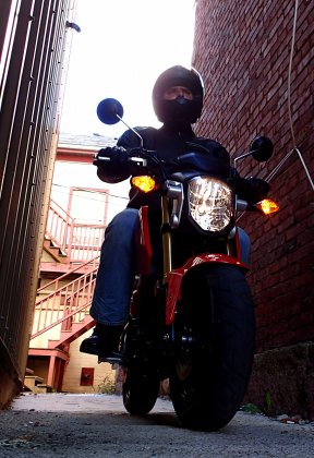 The Grom is fine on country roads, but it's more at home in an urban setting. Photo: Rob Harris