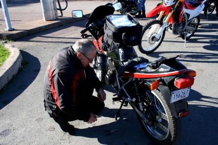 Every good D2D has some roadside repairs. Photo: Zac Kurylyk